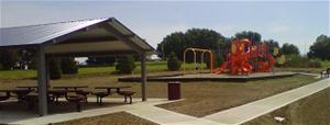 Playground and shelter area at a city park